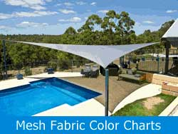 Mesh Fabric Color Charts